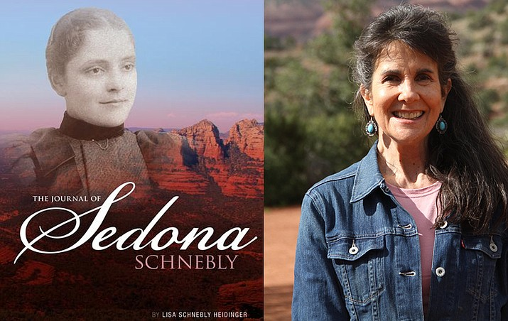 "Lisa Schnebly Heidinger, right, will discuss her new book ""The Journal of Sedona Schnebly,""  Saturday, September 30 at 2 p.m. at the Church of the Nazarene, 55 Rojo Drive in the Village of Oak Creek, and Sunday, October 1 at 1 p.m., in the community room of Sedona Public Library, 3250 White Bear Road."