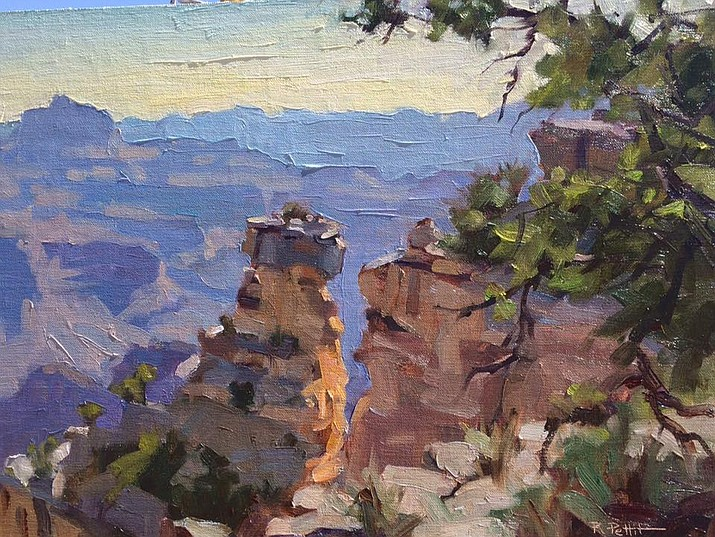 Artists created pieces outside on location at the Grand Canyon using a variety of mediums including acrylics, oils and pastels.