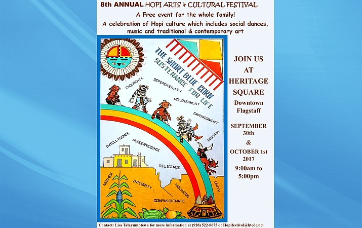Artwork for the Hopi Festival poster was created by Wallace Lomakema from the Village of Walpi.