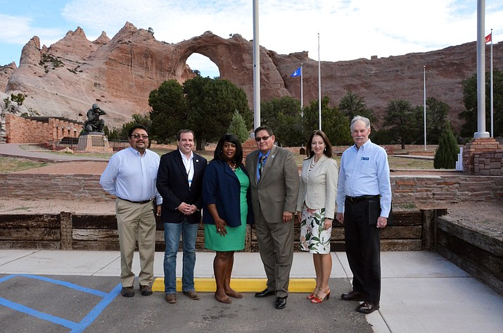 Flagstaff officials, including Mayor Coral Evans, met with Navajo Nation Speaker LoRenzo Bates Sept. 14 in Window Rock to convey support for addressing border town issues in Flagstaff.