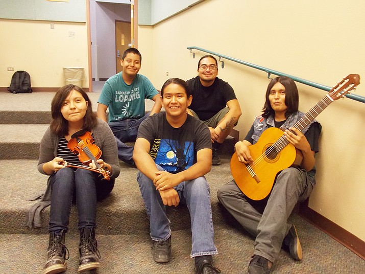 Students receive musical composition direction under Native American Composers Apprenticeship Program.