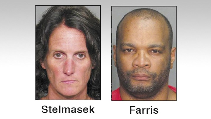 Laura Stelmasek, 45, of Prescott, the victim's wife, and Marzet Farris III, 46