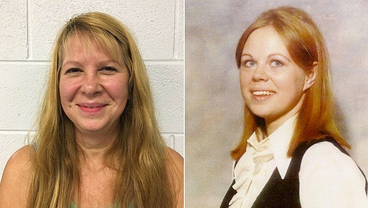 Sheila Keen Warren, left, was arrested Tuesday in Virginia in the 1990 death of Marlene Warren, right. Police say Sheila Keen dressed up like a clown 27 years ago and fatally shot Marlene, who was the wife of her future husband. (Washington County Sheriff's Office)