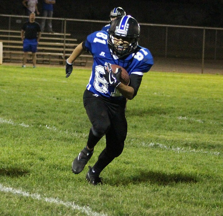 Kingman Academy's Nate Perea has caught 11 passes for 177 yards and two touchdowns this season.