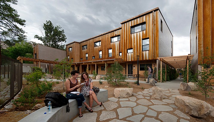 Prescott College's sustainable campus village student housing project is located in the middle of the college's campus just off Miller Valley Road in Prescott. (Courtesy)