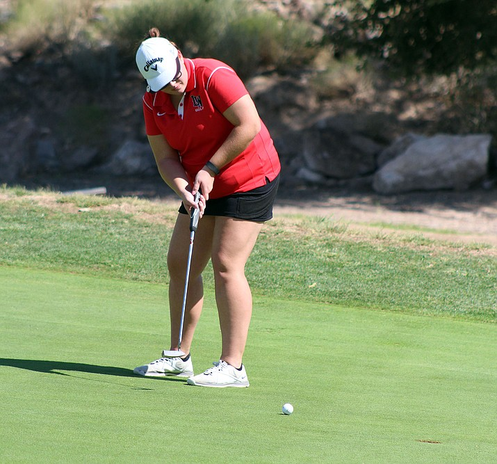 Sarah White shot a 48 to tie for second Tuesday in Lake Havasu.