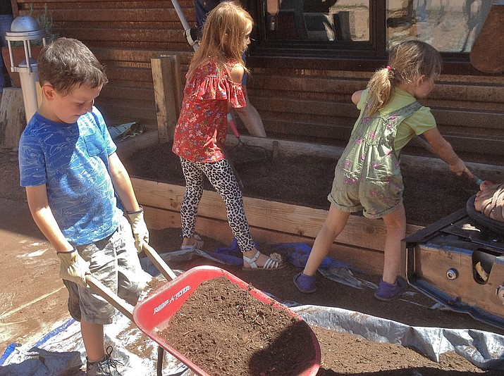 This school year, some 14 schools have started school gardens in Sedona and the Verde Valley. Gardens for Humanity is working with them to build their school garden team, help with the garden, and introduce the children and teachers to the planting and care of their garden with the many lessons they can learn there.