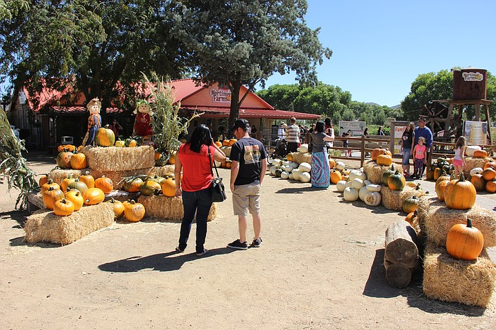 The entrance to Mortimer Farms and its country store is covered with pumpkins for its annual Pumpkin Festival. (Max Efrein/Courier, file)