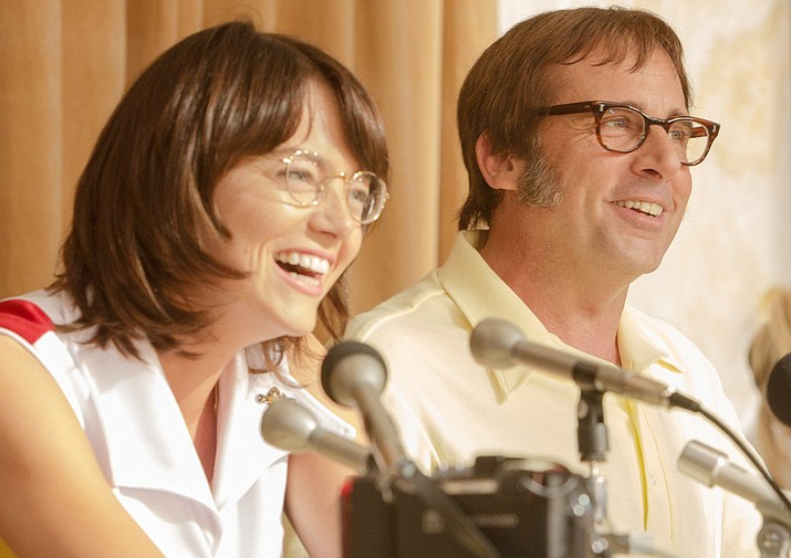 Emma Stone and Steve Carell are absolutely outstanding in Battle of the Sexes, a film that looks back at the historic tennis match between Billie Jean King and Bobby Riggs.