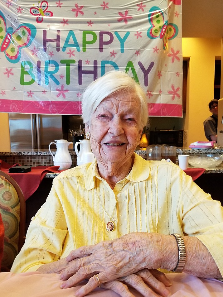 Christine McBride recently celebrated her 102nd birthday. (Courtesy)