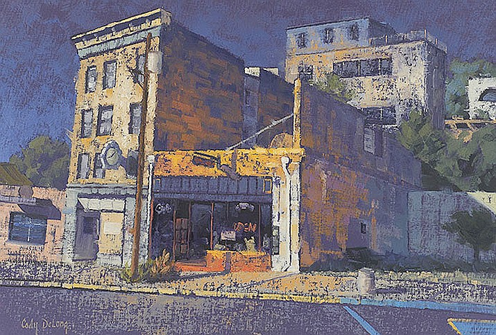 Cody DeLong celebrates the 100 year anniversary of this wonderful Jerome building with his painting 'Sullivan Turns 100'.