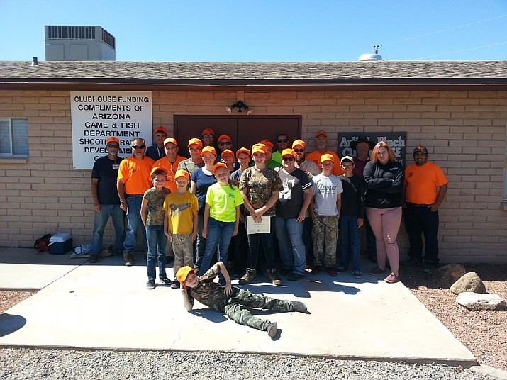 These students graduated from a recent Hunter Education class that was held at the Mohave Sportsman Club Seven Mile Hill range.
