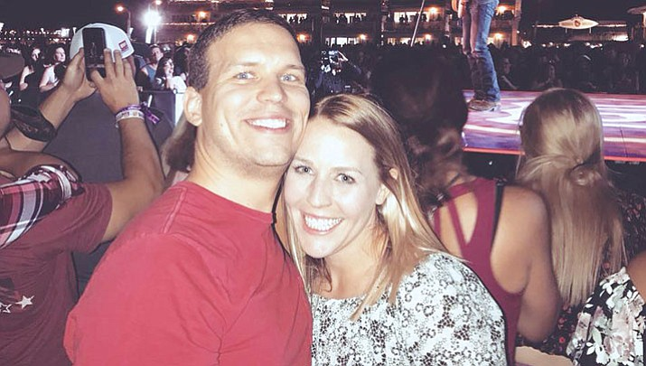 Michael Crocker, of Kingman, and his friend Emilie Husselt, of Phoenix, were only 15 feet from the stage before Sunday's shooting in Vegas.
