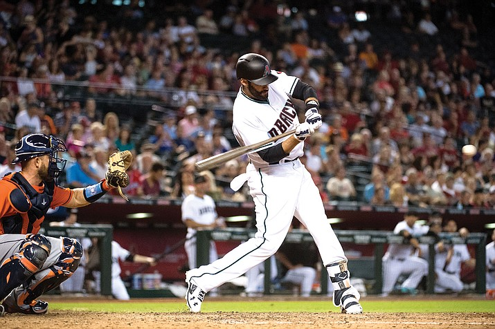 J.D. Martinez hit .302 with 29 home runs and 65 RBIs in 62 games with the Diamondbacks this season. Martinez was acquired from Detroit on July 18.