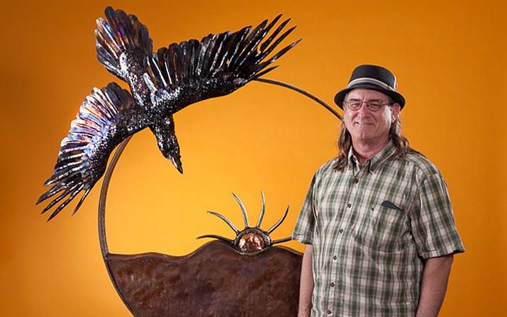 Raven Steals the Sun is one of artist Tom Williams metal sculptures. Williams is ARTober Fest's featured artist.