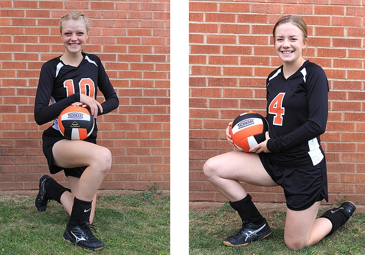 Tori Maebe and Riley Heap are senior volleyball players at Williams High School.