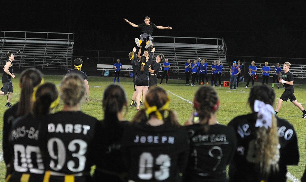 Highlight photos as Chino Valley High School held their annual powderpuff game and bonfire as part of Homecoming week activities Wednesday, October 4. (Les Stukenberg/Courier)
