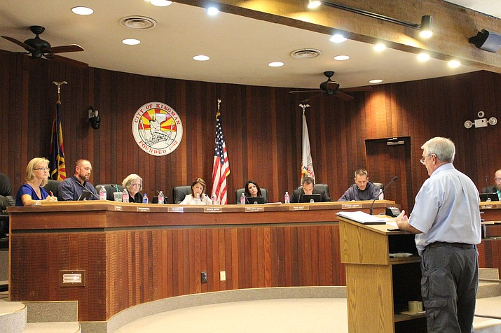 John Timco presents his financial and partnership framework to the City Council Oct. 3 at a special meeting in Council Chambers.