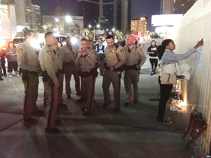 Law enforcement officers  remember off duty agents who lost their lives during Las Vegas mass shooting.