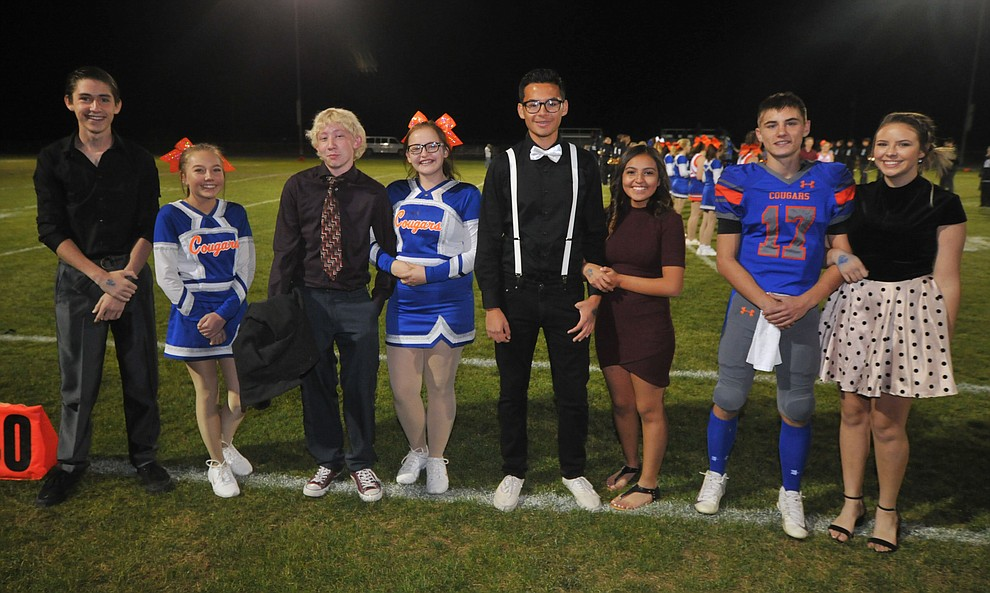 Chino Valley High School freshman homecoming royalty nominees during halftime of the football game against Kingman Friday, October 6. (Les Stukenberg/Courier)
