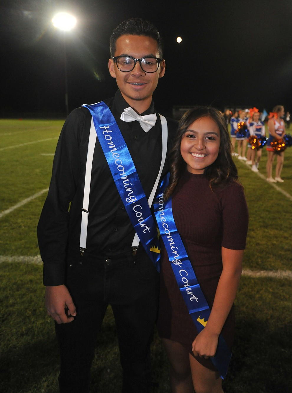 Chino Valley High School freshman homecoming royalty Oscar Gomez and Nayale Pina were crowned during halftime of the football game against Kingman Friday, October 6. (Les Stukenberg/Courier)