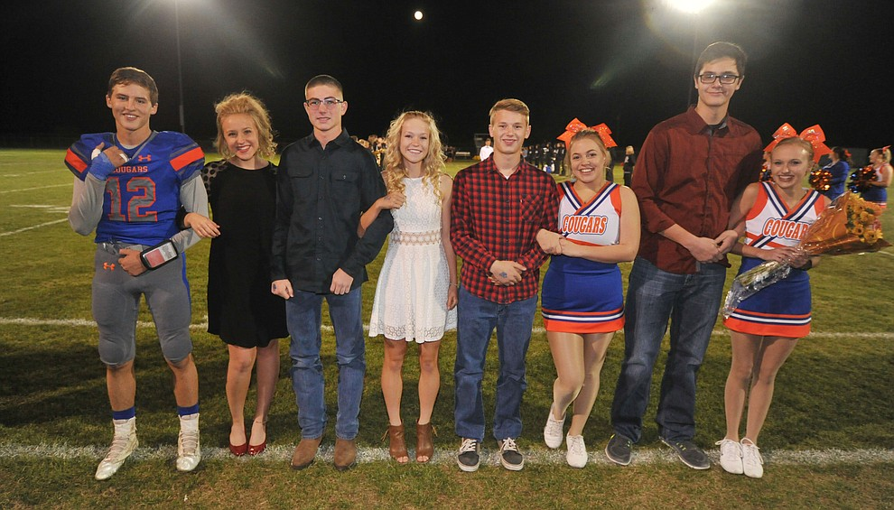 Chino Valley High School junior homecoming royalty nominees during halftime of the football game against Kingman Friday, October 6. (Les Stukenberg/Courier)