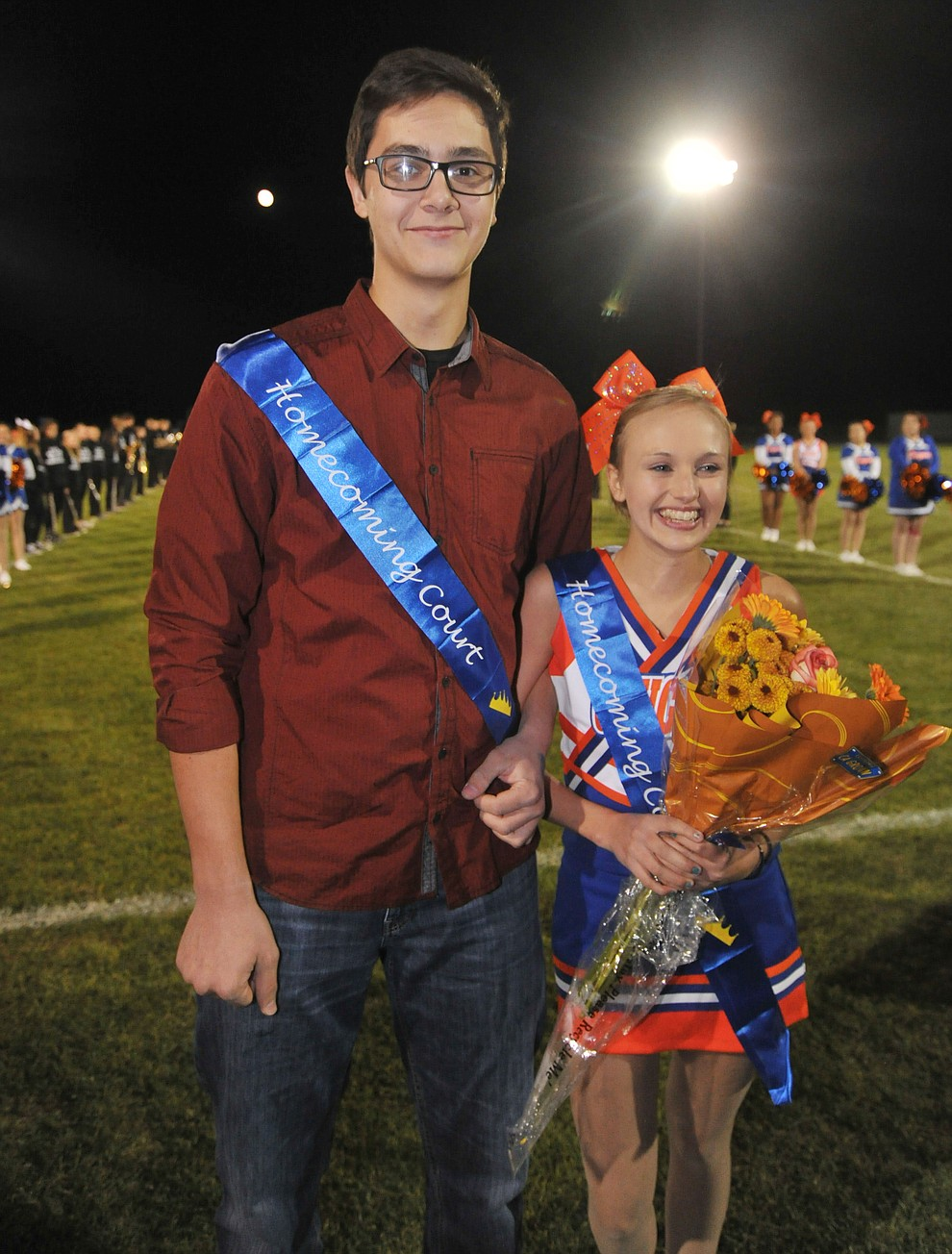 Chino Valley High School junior homecoming royalty Nick Tyler and Sydney Bartels were crowned during halftime of the football game against Kingman Friday, October 6. (Les Stukenberg/Courier)