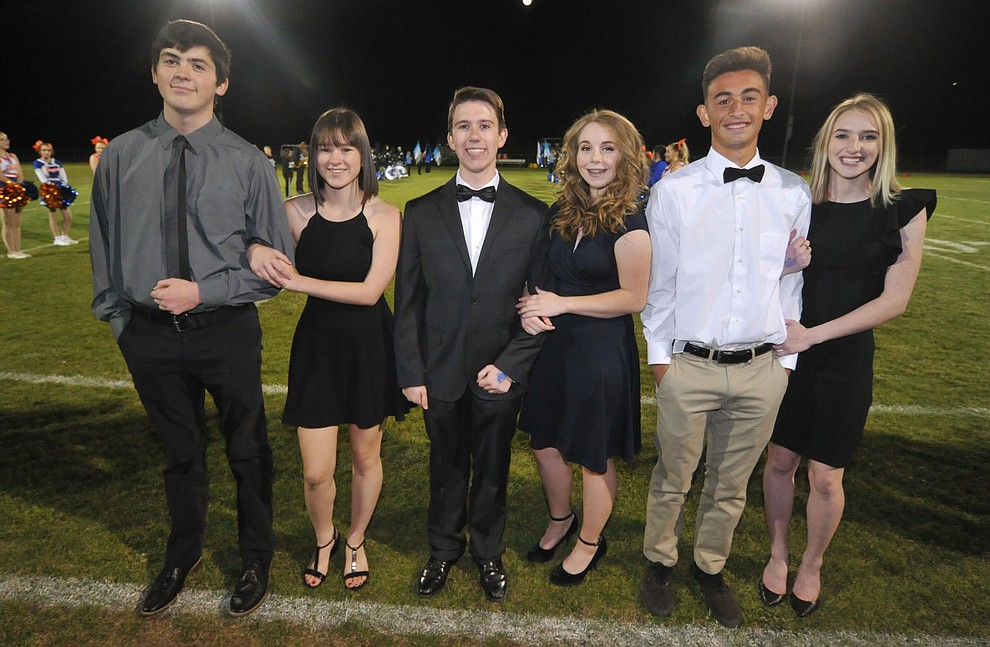 Chino Valley High School senior homecoming royalty nominees during halftime of the football game against Kingman Friday, October 6. (Les Stukenberg/Courier)