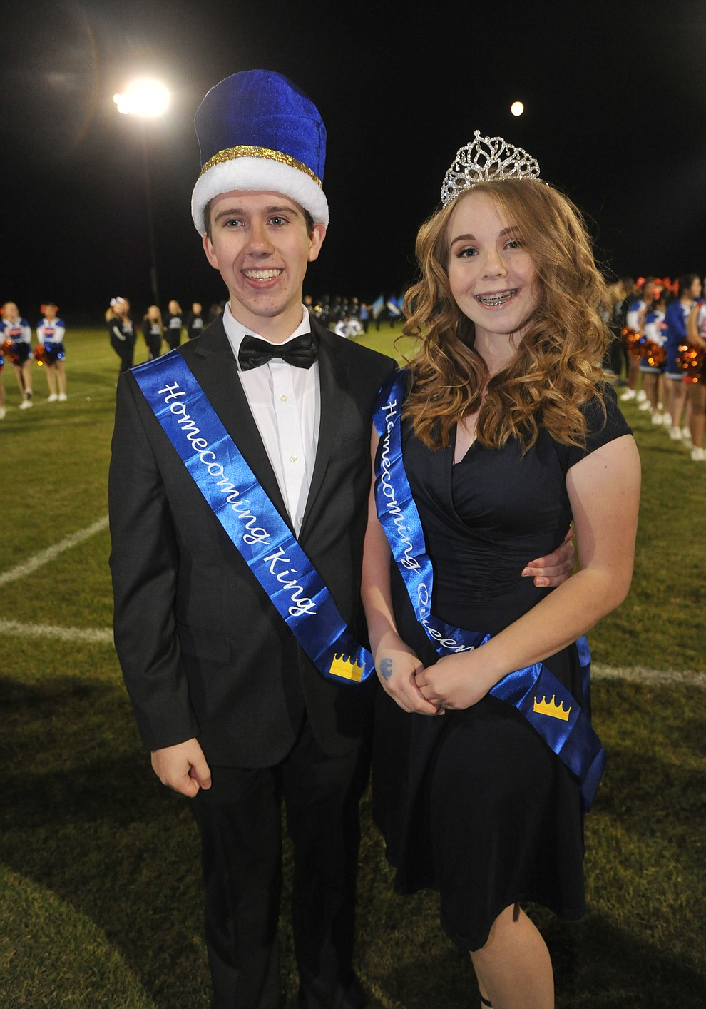 Chino Valley High School homecoming King Trevor Kuntze and Queen Paige Achten were crowned during halftime of the football game against Kingman Friday, October 6. (Les Stukenberg/Courier)