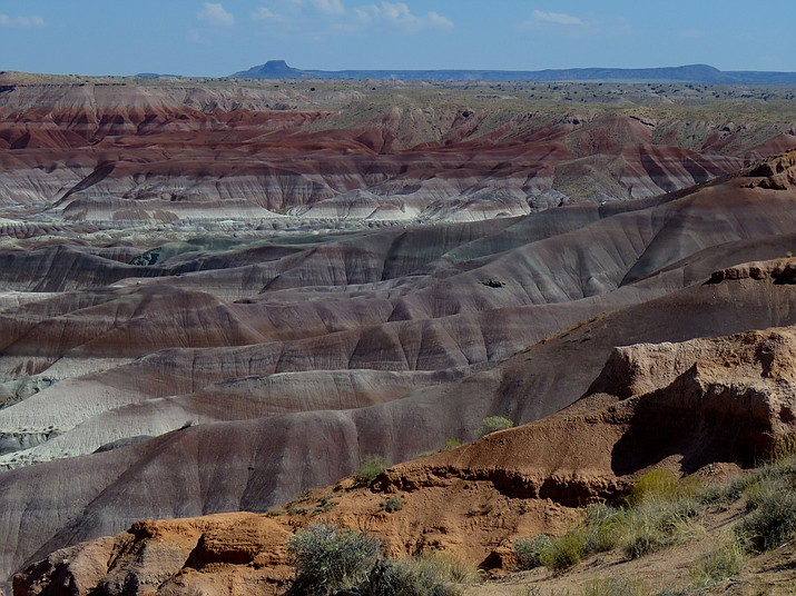 The rare beauty of the Painted Desert just north of Winslow, Arizona. Melissa Bowersock