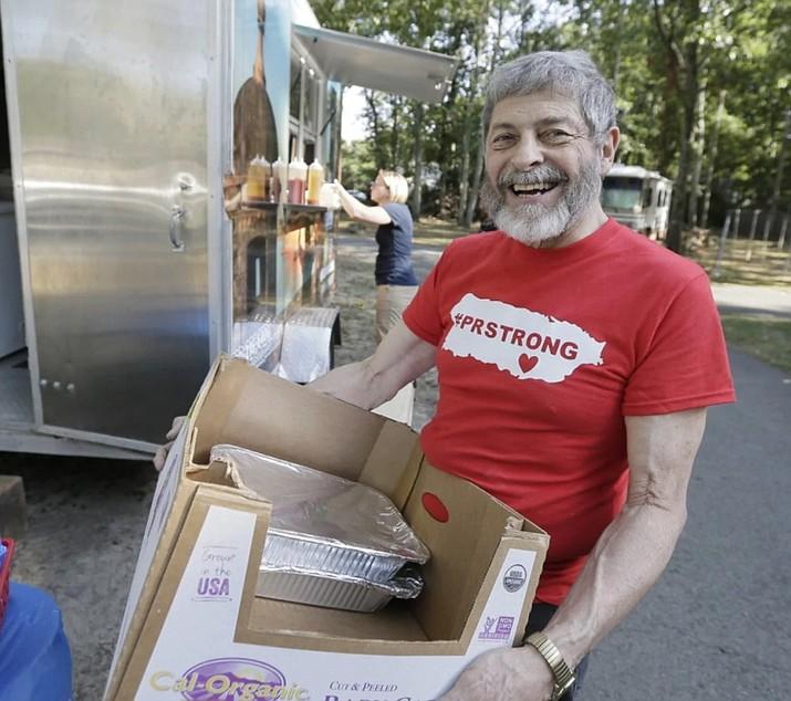 Joseph Badame at a food-truck fundraiser in Sept.ember,in Medford, N.J. (Photo by Elizabeth Robertson/The Philadelphia Inquirer via AP)