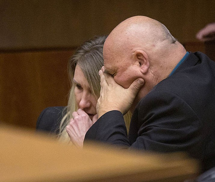 After a day of deliberation, Sabrina Limon learns of the jury's verdict with her attorney, Richard Terry.