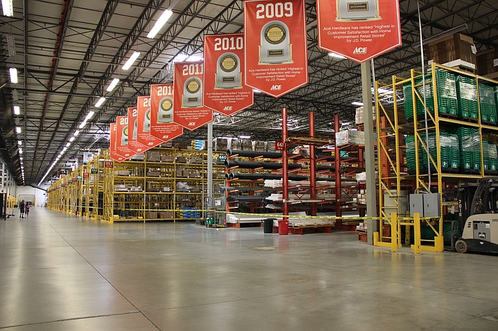 The Ace Hardware Retail Support Center's building in Prescott Valley sizes in at nearly 1 million square feet. (Max Efrein/Courier)