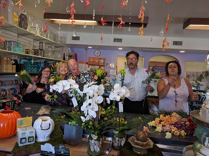 The crew at Allan's Flowers & More prepping bouquets for Petal It Forward in 2016. (Alan's Flowers & More/Courtesy)