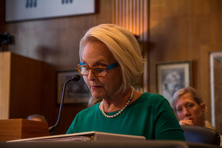 "Cindy McCain, long active in the fight against human trafficking, told a Senate committee that miscommunication between federal agencies and authorities in Indian Country is ""pretty much standard"" when it comes to sex trafficking. Photo/Adrienne St. Clair, Cronkite News"