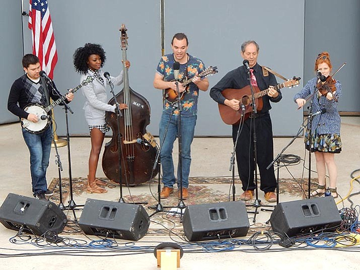 Cisco and the Racecars, bluegrass band. (Arcosanti/Courtesy)