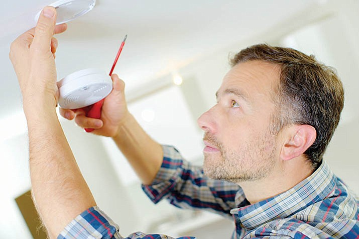 Good rule of thumb: change batteries in your smoke detectors each day light saving time change. (File image)