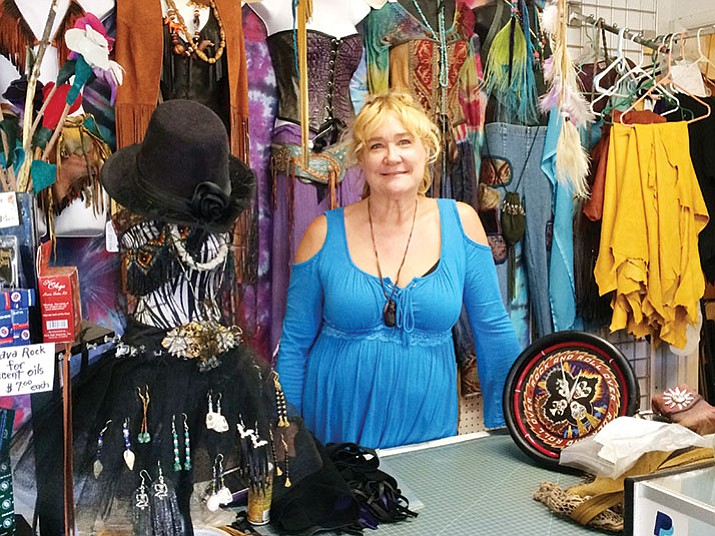 "Debbie ""Leather"" Walters runs That 70's Store in Mayer for vintage clothing and items. (Courtesy)"