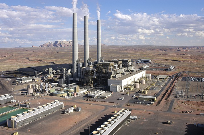 The coal-fired Navajo Generating Station in northeast Arizona provides almost 1,000 jobs between the plant and the mine that supplies it, but the plant's operators have said they plan to shut it down after 2019. Photo by Amber Brown/Courtesy SRP