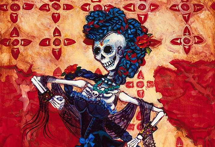 Taco Tuesday is one of artist Emma Gardner's prints that will be on display in celebration of Dia de los Muertos through October at The Gallery in Williams.