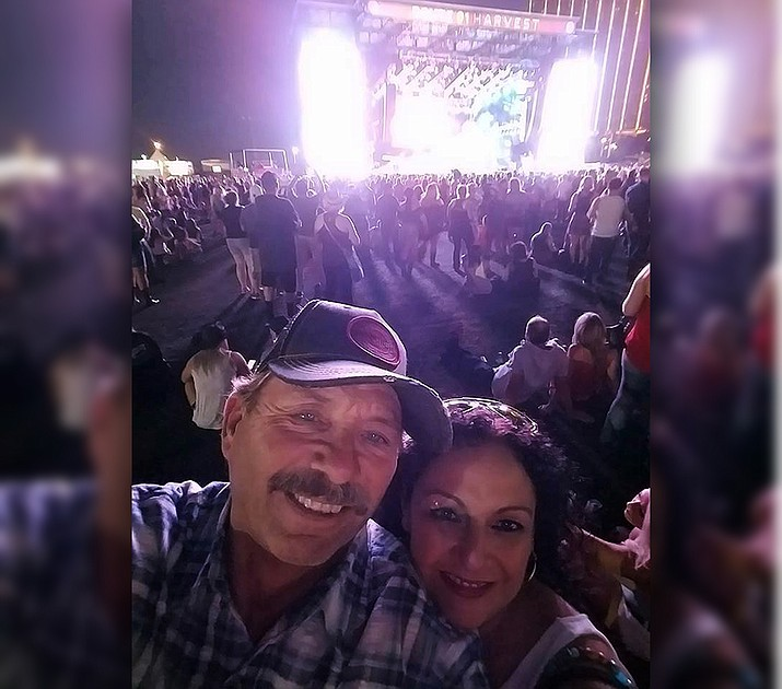 Brett Schwanbeck and Anna Orozco on the evening of Oct. 1 at the Route 91 Festival. (Courtesy of Schwanbeck family)