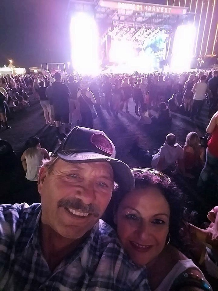 Brett Schwanbeck and Anna Orozco on the evening of Oct. 1 at the Route 91 Festival.