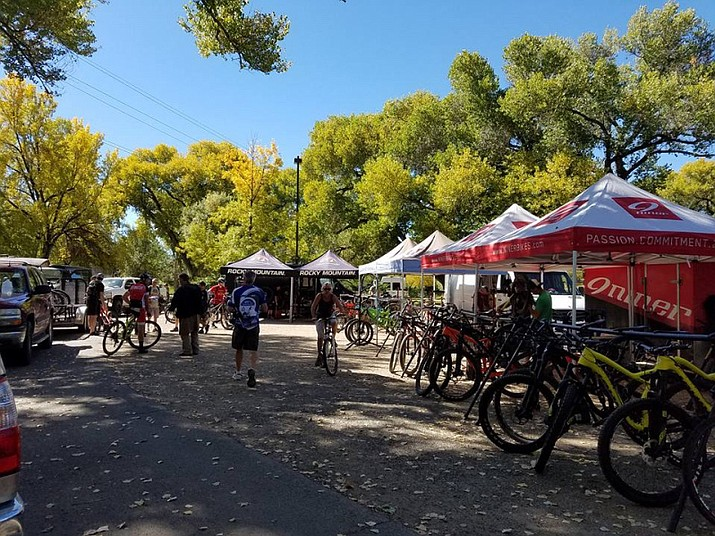 The Prescott Mountain Bike Festival takes place from Friday to Sunday, Oct. 13-15, at Granite Creek Park. (Courtesy)