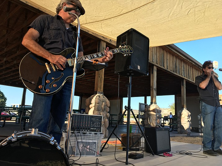 Dave Rice performs at Camp Verde's 60th annual Fort Verde Days celebration Saturday afternoon. (Photo by Bill Helm)