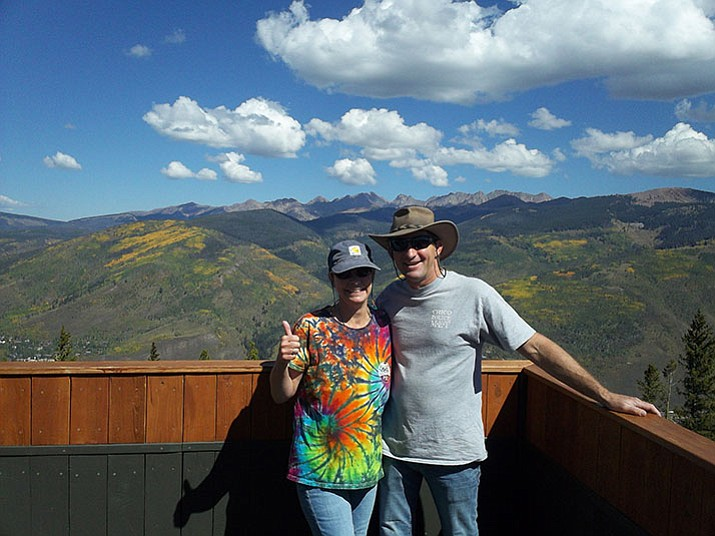 Lisa Ross-Williams and her husband, Kenny, in Colorado. (Courtesy)