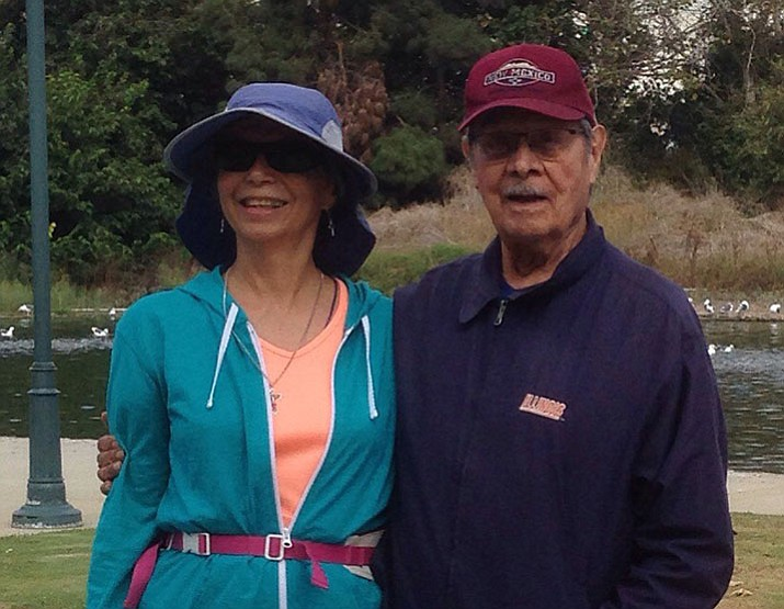 Debi pictured with her 95-year-old uncle, Gilbert Longoria. (Courtesy)
