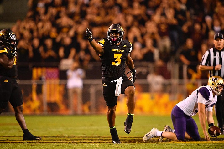 DJ Calhoun had six tackles for the Sun Devils' defense that stymied Washington.