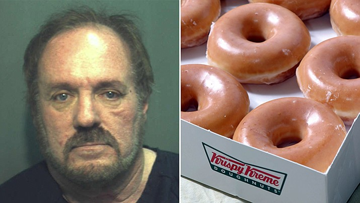 The City of Orlando, Florida paid Daniel Rushing $37,500 to settle a lawsuit after police officers arrested him for what they originally thought was meth, but was actually tiny flakes of glaze from a Krispy Kreme doughnut he had purchased. (Orlando Police Department booking photo)