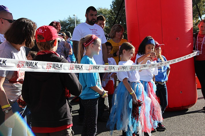 At least 200 people participated in this year's Step Out Walk to Stop Diabetes on Saturday, Oct. 14, at the Yavapai-Prescott Indian Reservation in Prescott.