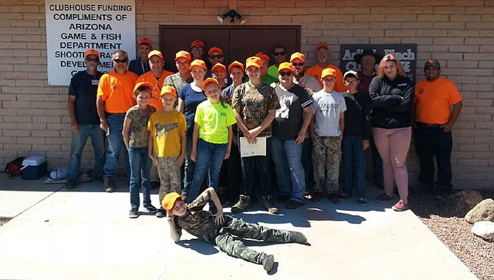 These are the state's newest hunter ed graduates after they graduated from a class at the Mohave Sportsman Club's 7 Mile Hill Range.